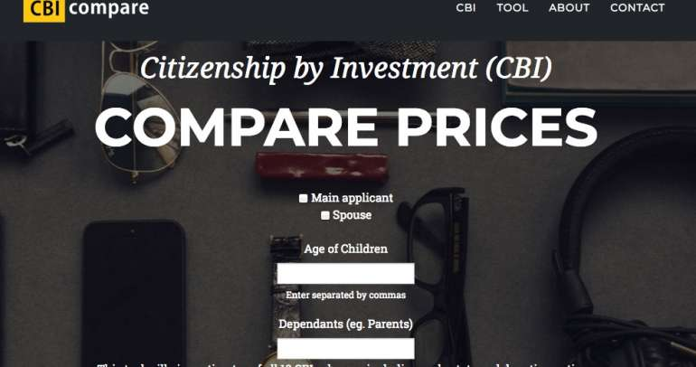 New tool to compare citizenship by investment prices
