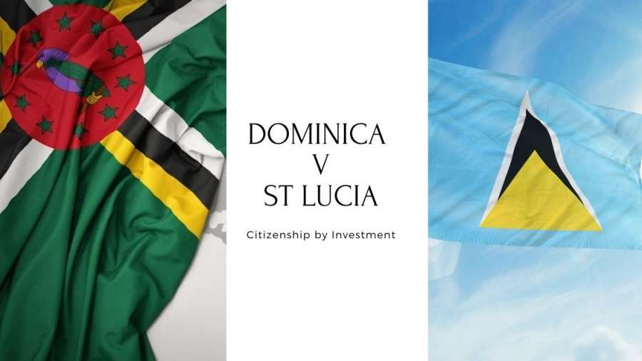 What is the difference between Dominica vs St Lucia CBI programs?